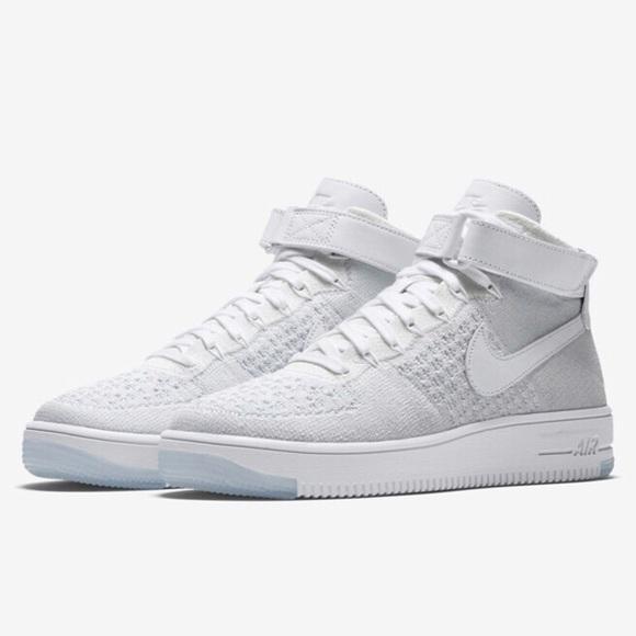 nike air force 1 ultra flyknit bianco grigio scarpe poshmark